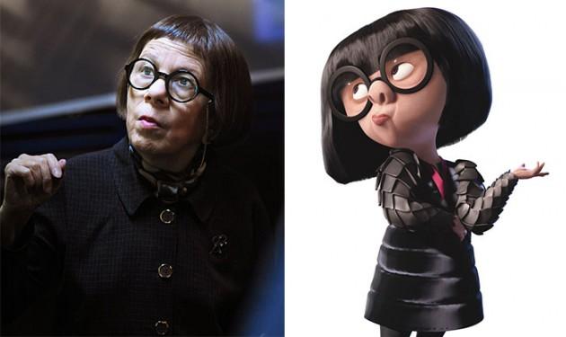 Edna do filme Os Incríveis