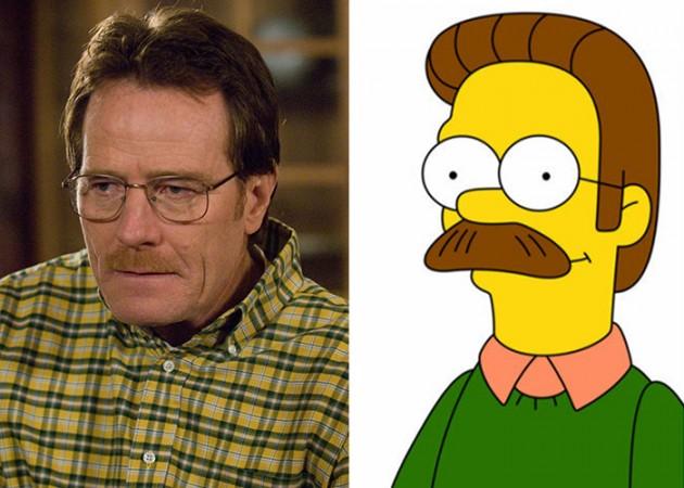 Walter White e o Flanders dos Simpsons