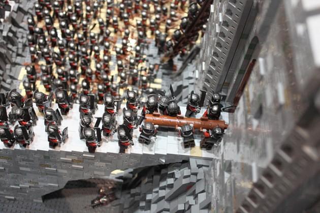 abismo de helm - senhor dos aneis em lego 12