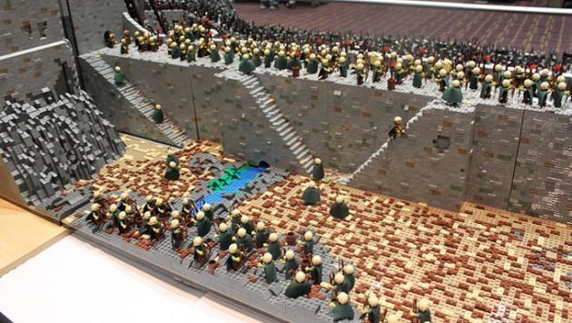 abismo de helm - senhor dos aneis em lego 14