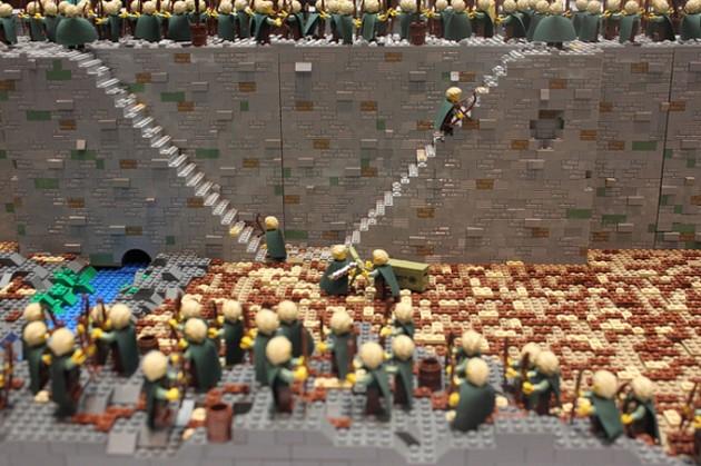abismo de helm - senhor dos aneis em lego 16