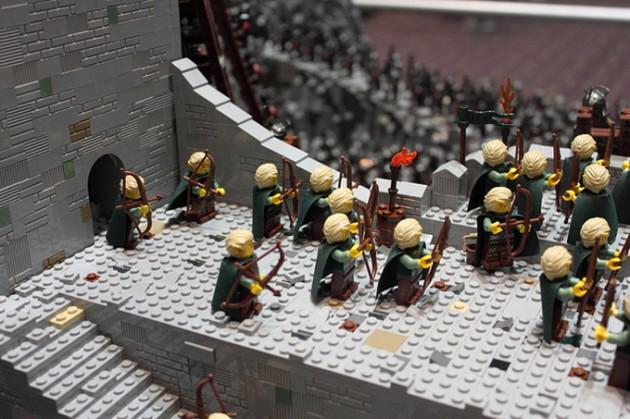 abismo de helm - senhor dos aneis em lego 3