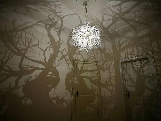 Luminária com sombras