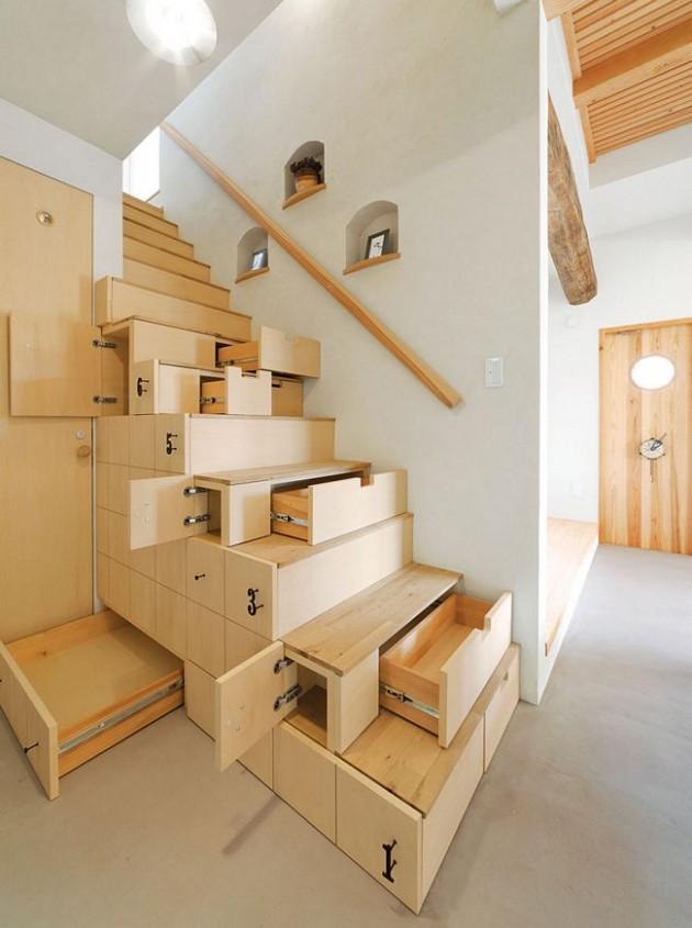 Escada de gavetas
