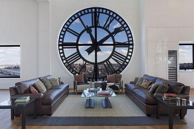 Janela em formato de Relógio