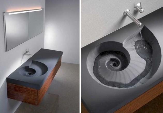 #1 - Pia super criativa para os banheiros.