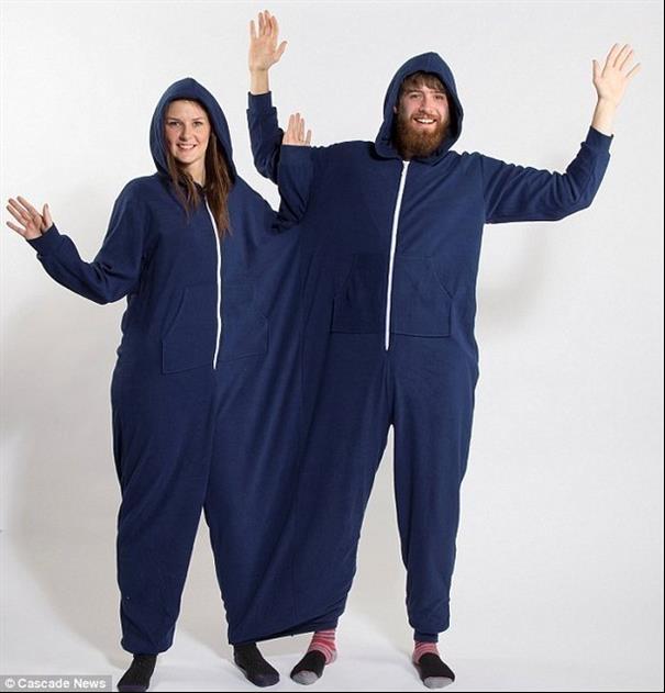 Pijama para 2. Perfeito para dormir agarradinho.