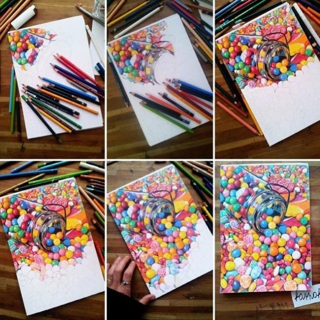 #15 - Processo de ilustração por Hannah Catherine