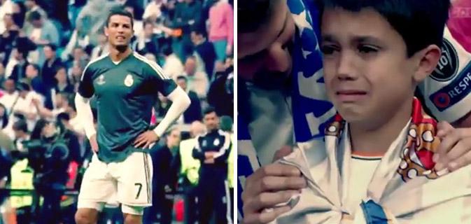 Cristiano Ronaldo acerta bola em rosto de criança e depois surpreende todos com sua atitude