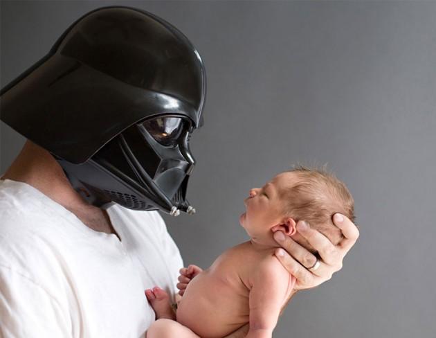 Pequeno Luke e seu pai.
