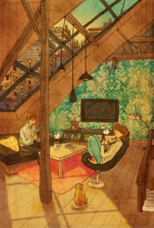 sweet-couple-love-illustrations-art-puuung-44__700
