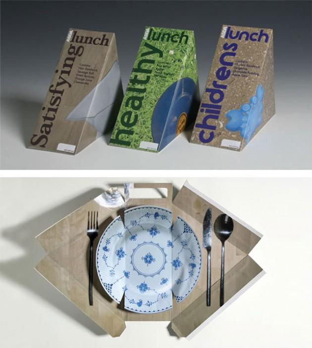 """Embalagem que se transforma em um """"prato"""""""