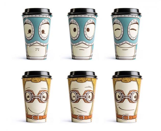 Copo de café interativo