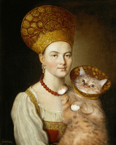 Argunov_-Portrait-of-an-Unknown-Woman-in-Russian-Costume-and-a-Very-Known-Cat-in-a-Vet-Collar_FatCatArt-w-383x479
