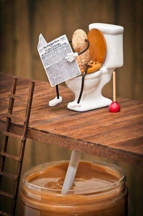 E assim se criou a pasta de amendoim