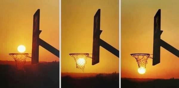 #14 - Brincando com a perspectiva e o sol.