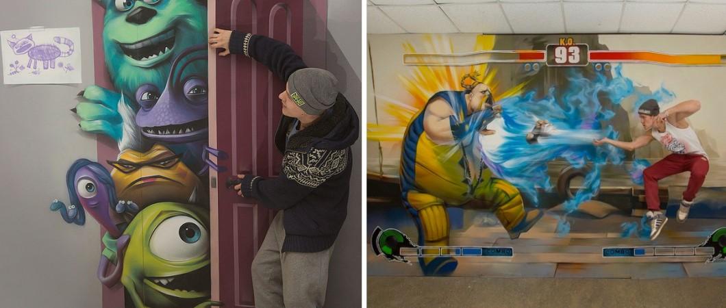 Este Artista Cria Pinturas 3d Em Perspectiva Que Parecem Pular Das