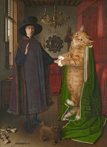 eyck-the-arnolfini-portrait-cat-w-349x479