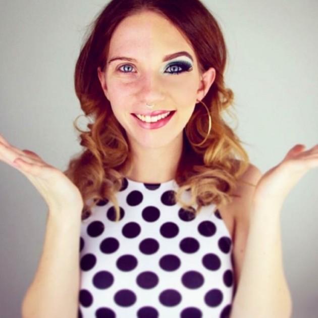 Garotas são maquiadas pela metade para conscientizar algo muito importante para as mulheres 16