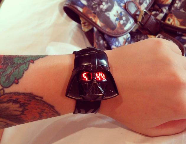 Relógio do Darth Vader.