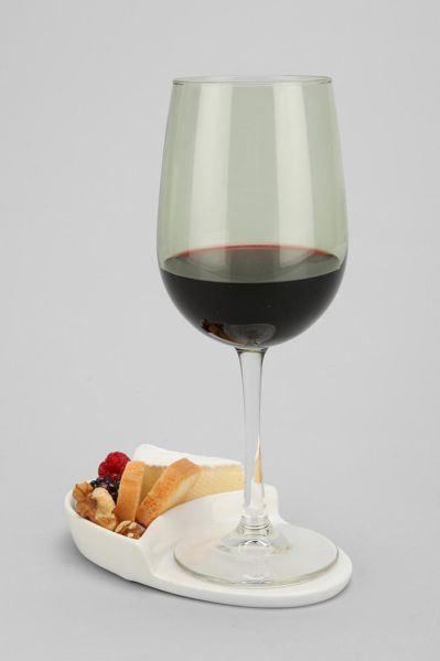 Porta vinhos na bandeija