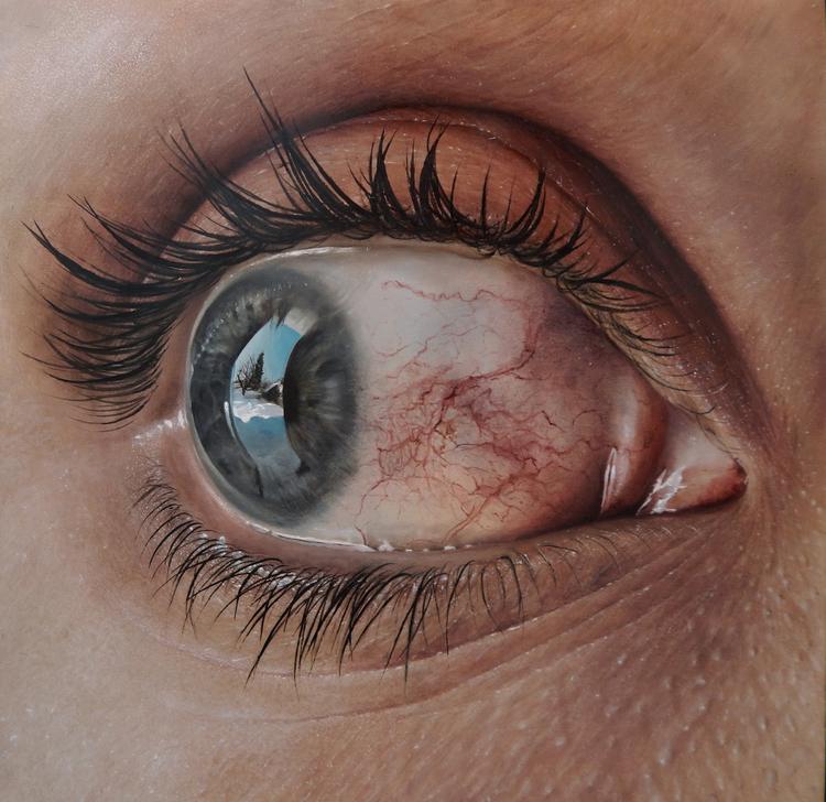Artista cria pinturas hiper-realistas que assustam e se passam facilmente por fotos 3