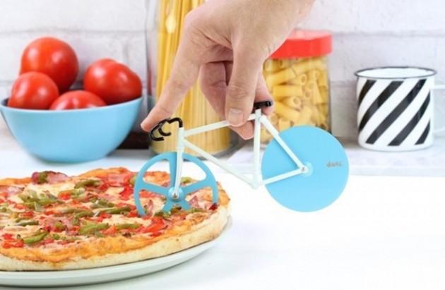 Cortador de Pizza em formato de Bicicleta