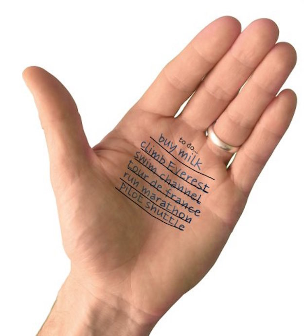 Tatuagem temporária para as mãos