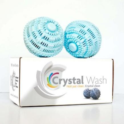 Crystal Wash, para dispensar o uso de detergente e sabão na hora de lavar.