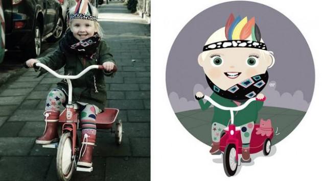Ilustrador transforma foto de crianças em caricaturas fofas e incríveis 10
