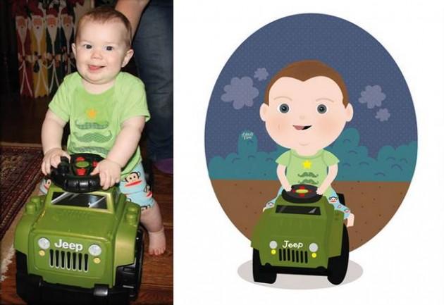 Ilustrador transforma foto de crianças em caricaturas fofas e incríveis 16
