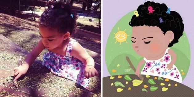 Ilustrador transforma foto de crianças em caricaturas fofas e incríveis 17