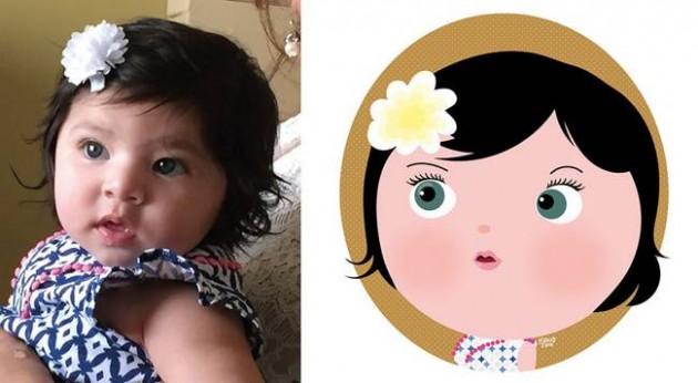 Ilustrador transforma foto de crianças em caricaturas fofas e incríveis 18