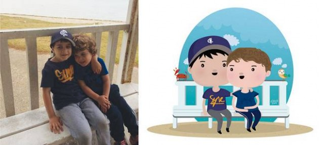 Ilustrador transforma foto de crianças em caricaturas fofas e incríveis 19