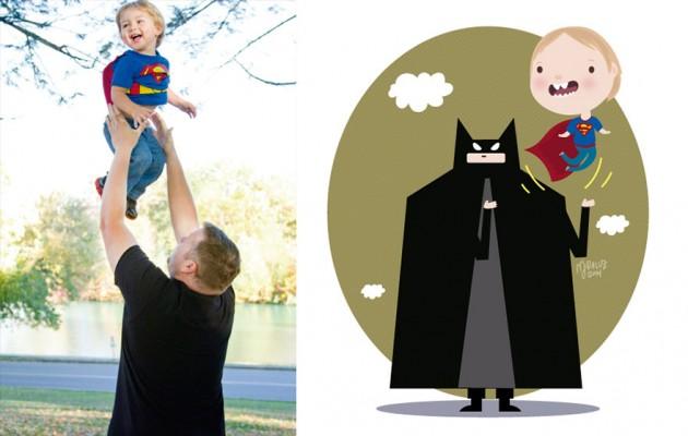Ilustrador transforma foto de crianças em caricaturas fofas e incríveis 21