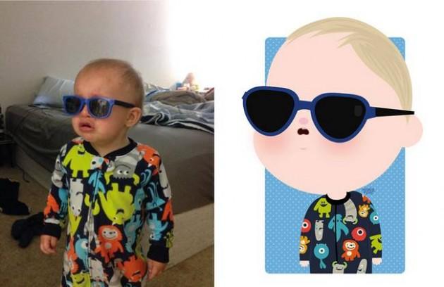 Ilustrador transforma foto de crianças em caricaturas fofas e incríveis 3