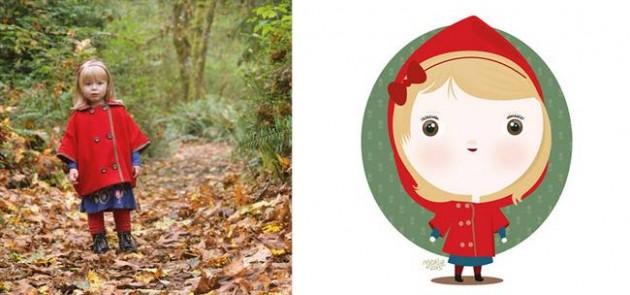 Ilustrador transforma foto de crianças em caricaturas fofas e incríveis 4
