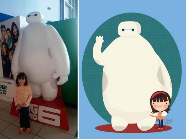 Ilustrador transforma foto de crianças em caricaturas fofas e incríveis 5