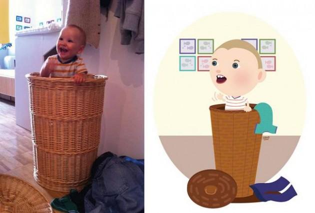 Ilustrador transforma foto de crianças em caricaturas fofas e incríveis 6