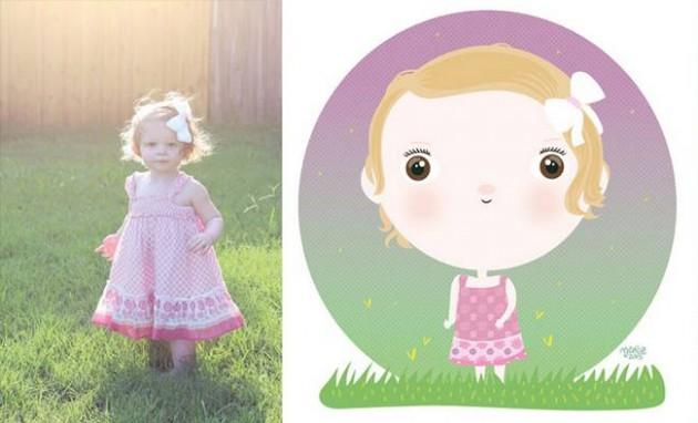Ilustrador transforma foto de crianças em caricaturas fofas e incríveis 7