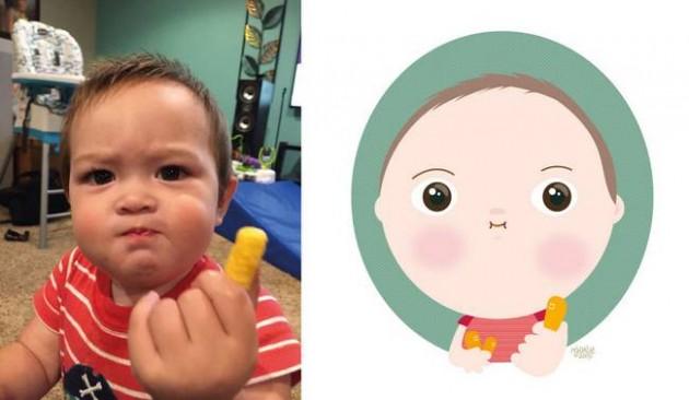 Ilustrador transforma foto de crianças em caricaturas fofas e incríveis 8