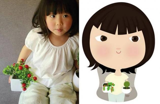 Ilustrador transforma foto de crianças em caricaturas fofas e incríveis 9