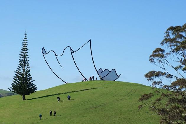 Escultura na Nova Zelândia.