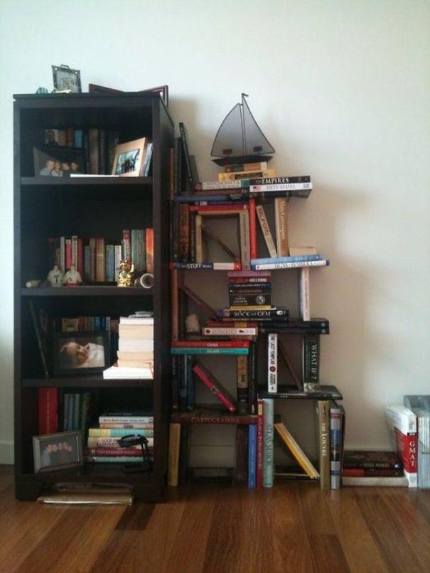 Criando sua estante de livros com livros.