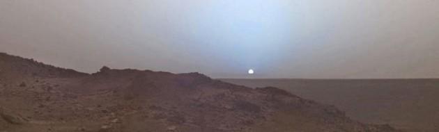 Pôr-do-sol visto de marte em 2005.