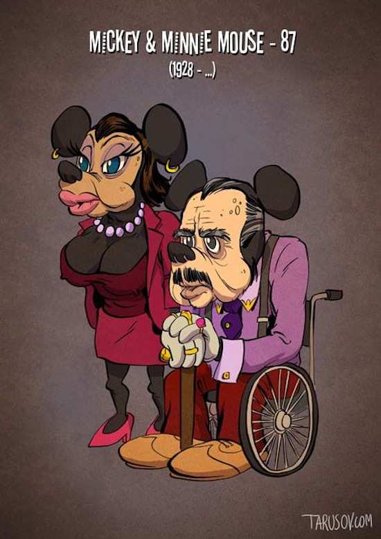 If_Classic_Cartoon_Characters_Grew_Old_as_Ordinary_Movie_Stars_Illustrations_by_Andrew_Tarusov_2015_01