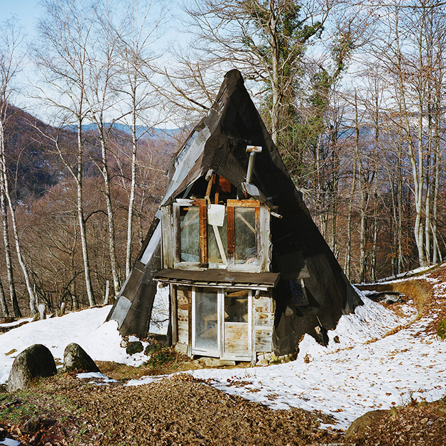A tipi, the Pyrenees, France, 2012.
