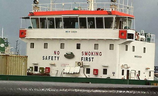 No Safety, Smoking First. Hahaha!