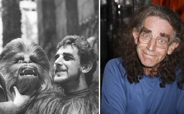 Peter Mayhew era Chewbacca, 1977 e 2015