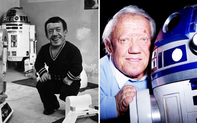 Kenny Baker era R2-D2, 1977 e 2015